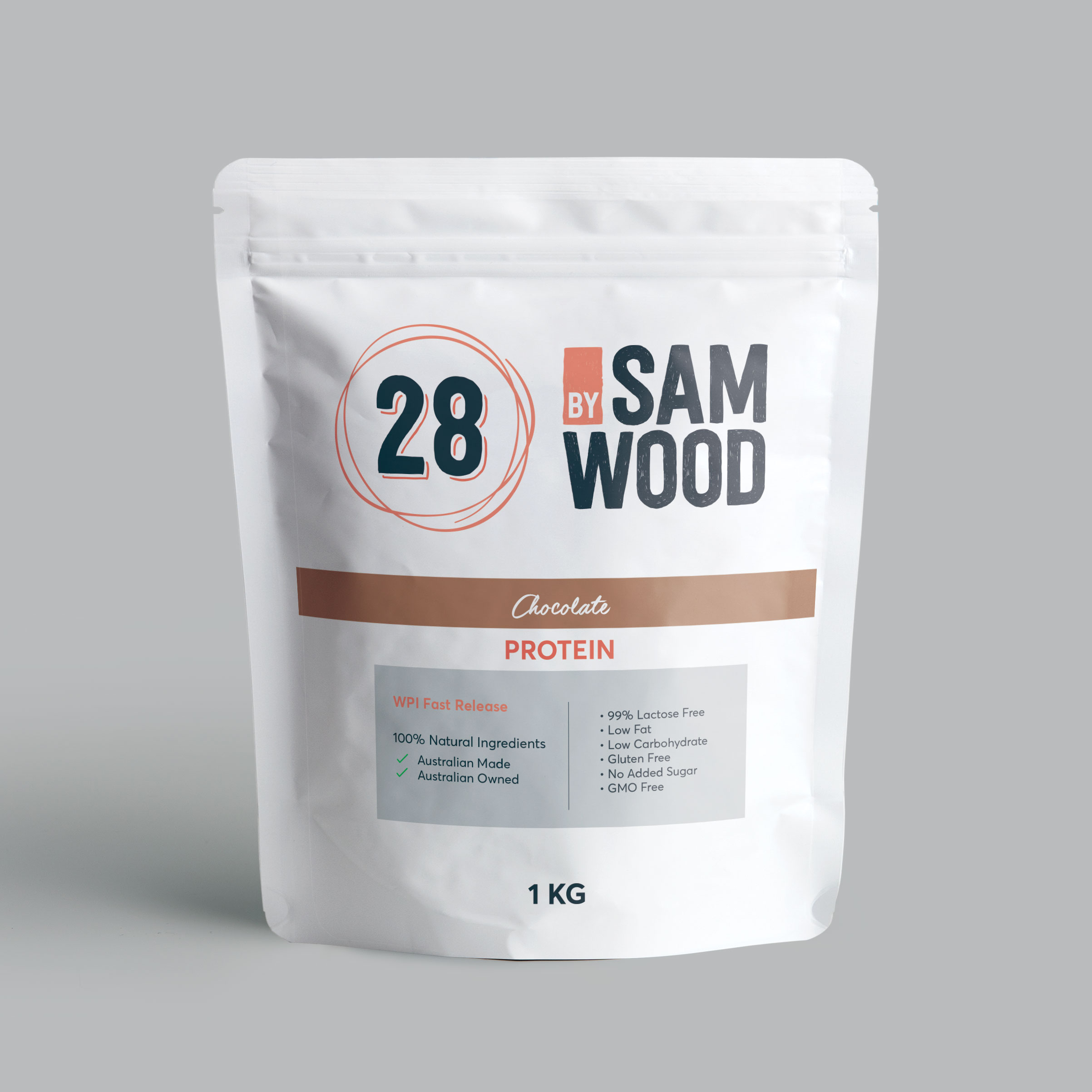 natural chocolate whey isolate powder from 28bysamwood